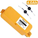 Power-Ing Upgraded 4000mAh Replacement Battery for iRobot Roomba 400 Series 400 405 410 415 416 440 4000 4100 4105 4110 4130 4150 4170 4188 4210 4220 4225 4230 4232 4260 4300 Robotic Vacuum Cleaner