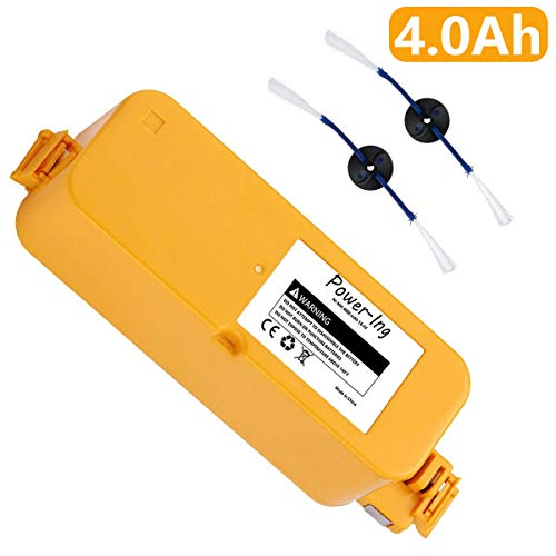 Roomba Discovery Battery - Power-Ing Upgraded 4000mAh Replacement Battery for iRobot Roomba 400 Series 400 405 410 415 416 440 4000 4100 4105 4110 4130 4150 4170 4188 4210 4220 4225 4230 4232 4260 4300 Robotic Vacuum Cleaner