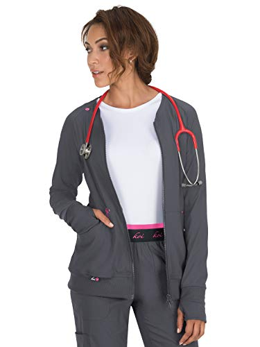 KOI lite 445 Women's Clarity Scrub Jacket Charcoal M