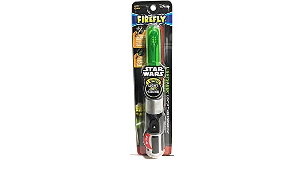 Firefly Star Wars Yoda Lightsaber Light-Up Talking Timer Toothbrush