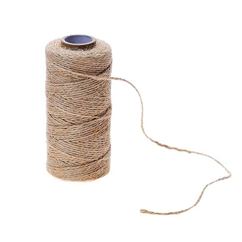 New-Sky-View - 100m/Roll Natural Hemp Rope DIY Tag Label Hang Rope Wedding Home Woven Decorative Twine Jute String Gardening Cord
