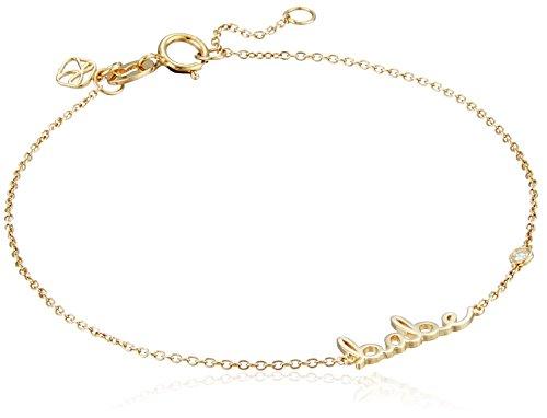 """Shy by SE """"Babe"""" Bracelet with Diamond Bezel"""