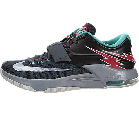 new styles 17ce1 c13b7 Galleon - Nike Mens KD VII Thunderbolt Basketball Shoes-Classic  Charcoal Dove Gray-12