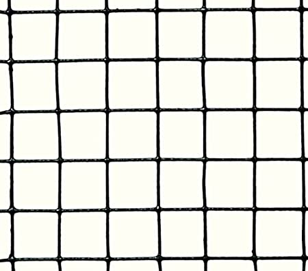 Maschenweite: 19x19 mm PROFISHOP-BREMEN Volierendraht SCHWARZ beschichtet Drahtgitter Drahtgeflecht Zaun Maschendrahtzaun Kaninchenzaun Hasendraht