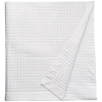 Image of Belle Epoque 420-Thread Count Quilted Coverlet, King, White Home and Kitchen