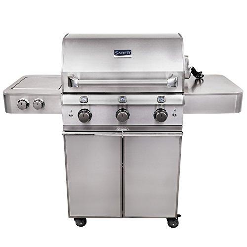 Saber Grills R50SC1417 Elite 3-Burner Grill, Stainless