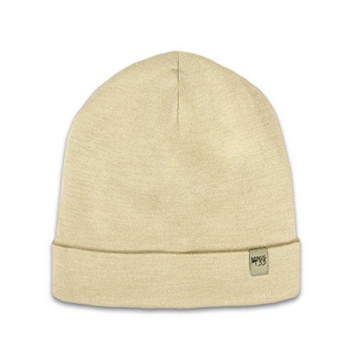 Minus33 Merino Wool Ridge Cuff Beanie Natural Cream One ()