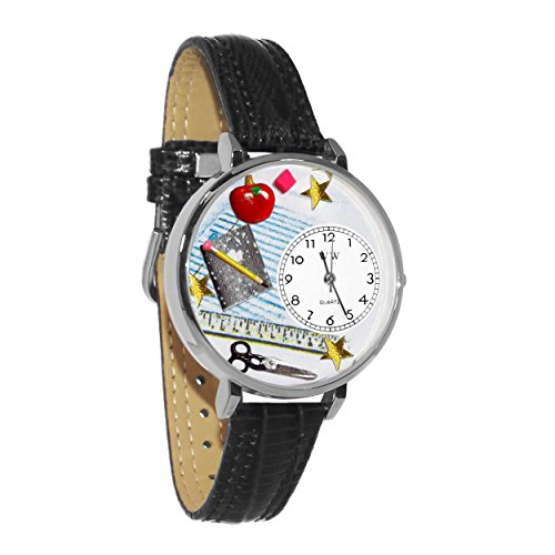 Whimsical Watches Unisex U0640001 Teacher Black Skin Leather Watch by Whimsical Watches
