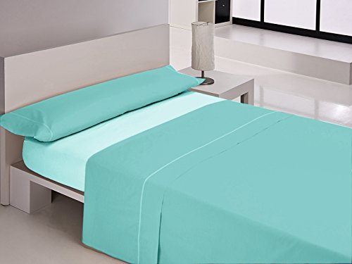 Carla Rubini Etched Sheet Set, Polyester, Green Water, 38.0x 28.0x 3cm, Pack of 3 ()