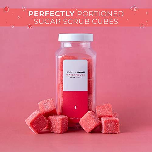 JOON X MOON Sugar Scrub (Watermelon,1 Pack), Exfoliating Body Scrub, Moisturizing Aloe and Shea Butter to Soften and…