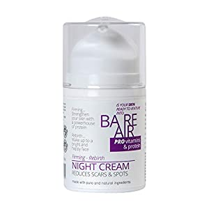 Bareair Night Cream With Protein, Vitamins & Hyaluronic Acid 50 ML | For Glowing Tight Skin & Anti-Ageing | Scars & Age…