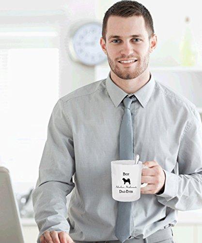 Best Alaskan Malamute Dad Ever Gift - White Coffee Mug - 15 oz Tea Cup - Ceramic