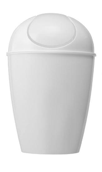 Uniware, Kunststoff Schwingdeckel Mülleimer/Trash Kann, Ei Form, Weiß (5  Liter Home Design Ideas