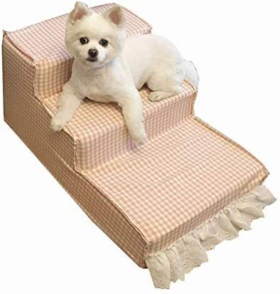 Escaleras Mascotas Cama para Perros en Tres Pasos y sofás Altos, escaleras pequeñas y Medianas para Mascotas, Desmontables, Lavables: Amazon.es: Hogar