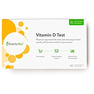 Gut Health Shop 41a5EYPeDsL._SS300_ Everlywell Vitamin D Test - at Home - CLIA-Certified Adult Test - Discreet Blood Analysis - Results Within Days…