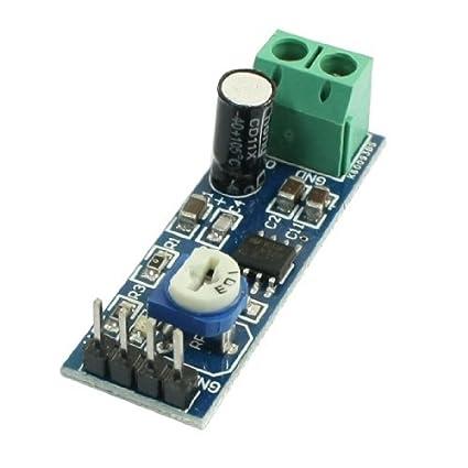 eDealMax LM386 viruta 5V-12V de entrada de 200 veces la ganancia del amplificador de
