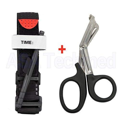 Ems Twill - ASATechmed One Hand Tourniquet Combat Application First Aid Handed + Free Trauma Shear