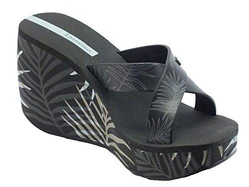 Ipanema 81934 Lipstck Straps Iii Fe Black - Sandalias de vestir de goma para mujer negro
