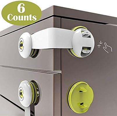 TWO Child Safety Lock RefrigeratorLatch Cabinets doors drawers  Fridge Lock