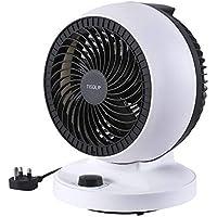 TISDLIP Table Fan 9In Oscillating Desk Fan Turbo Cooling Powerful Electric Air Circulator School