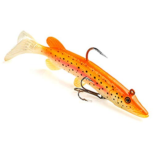 (True Pike Soft Swimbait Saltwater Bass Fishing Lure, Built in Lead Weight 13Cm 25G One Piece,Tangerin)