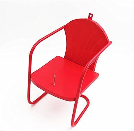 Deco Red Retro Lawn Chair Squirrel Feeder