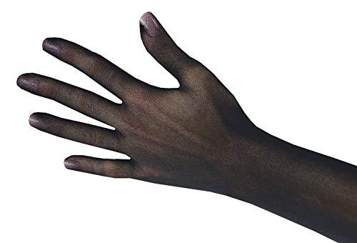 (Persephone - Sheer Seamless Nylon Evening Gloves (Black))