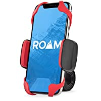 "Roam Universal Premium Bike Phone Mount para motocicleta - Manillar de bicicleta, ajustable, Se adapta a iPhone X, iPhone 8 | 8 Plus, Galaxy S9, S8, S7, sostiene teléfonos de hasta 3.5 ""de ancho (rojo)"
