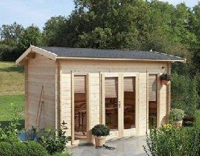 Abri maison de jardin bois 15.3m2, porte vitrée: Amazon.fr ...
