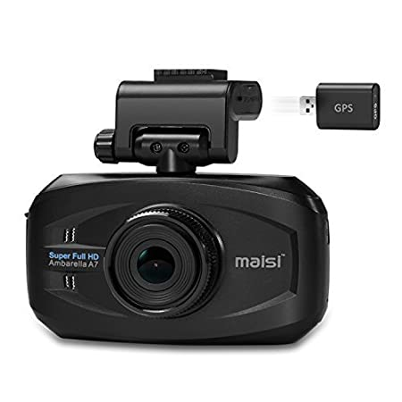 maisi M20 4MP In-Car Recorder, Vivid Color Dashboard Camcorder (2304*1296 1296p, 170-Degree True Wide Angle, Automatic Ignition/Motion/Crash Detection and Seamless Loop Recording) maisi_m30