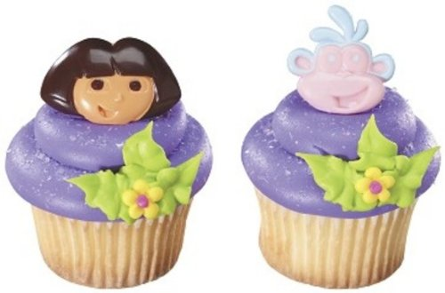 Dora the Explorer Dos Amigos Birthday Party Cupcake Ring Favors - 24 pcs