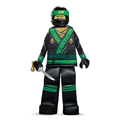 Disguise Lloyd Lego Ninjago Movie Prestige Costume, Green, Small (4-6): Toys & Games
