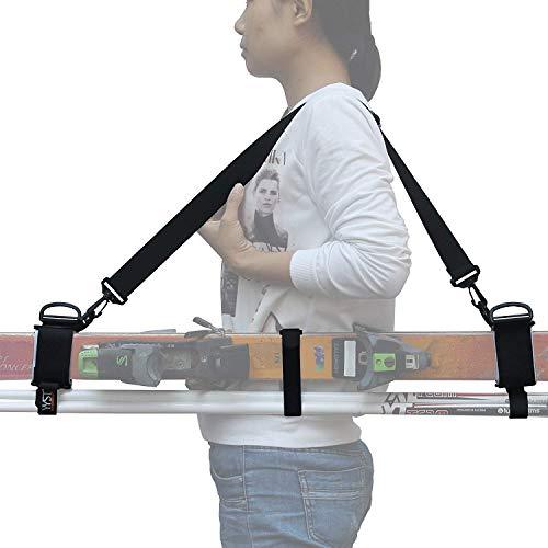 Velcro Ski Straps - YYST Thick and Strong Ski Shoulder Carrier Lash Handle Straps Porter
