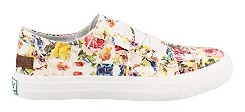 Blowfish Womens Marley Sneaker Off-white Washed Mystic Garden Stretch lGAWPHZ