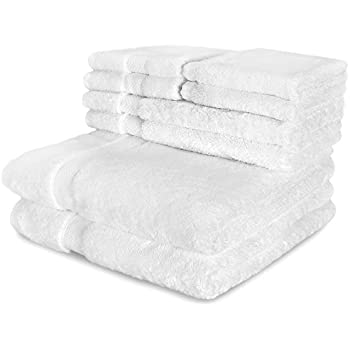 Cozy Homery Egyptian Cotton 650 GSM 6-Piece Towel Set, White