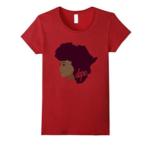 Women's Afrocentric Africa Afro Hair T Shirt for Women Me...
