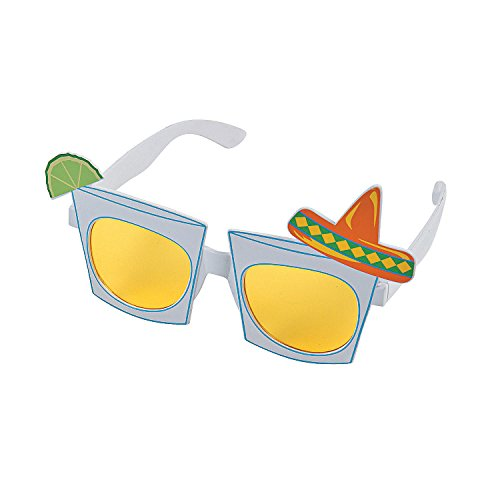 Tequila Shot Plastic Sunglasses for Cinco de Mayo - Novelty Glasses - 1 Piece ()