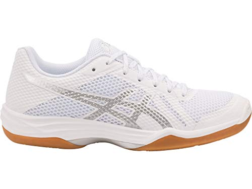ASICS Women's Gel-Tactic 2 Volleyball Shoes, 8M, White/Silver ()