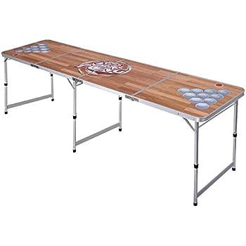 Amazon Com Giantex 8 Portable Beer Pong Table Foldable