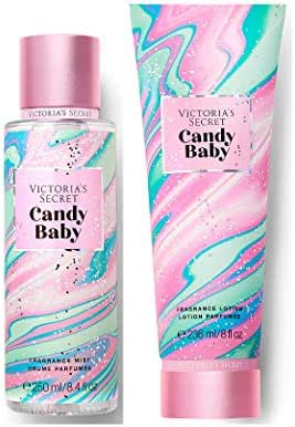 Victorias Secret Pink Sweet Fix Fragrance Mist and Lotion Set (2PC) - 8.4 fl oz & 8 fl oz (Candy Baby)