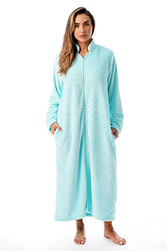 Just Love Plush Zipper Lounger Robe 6729-MNT-S