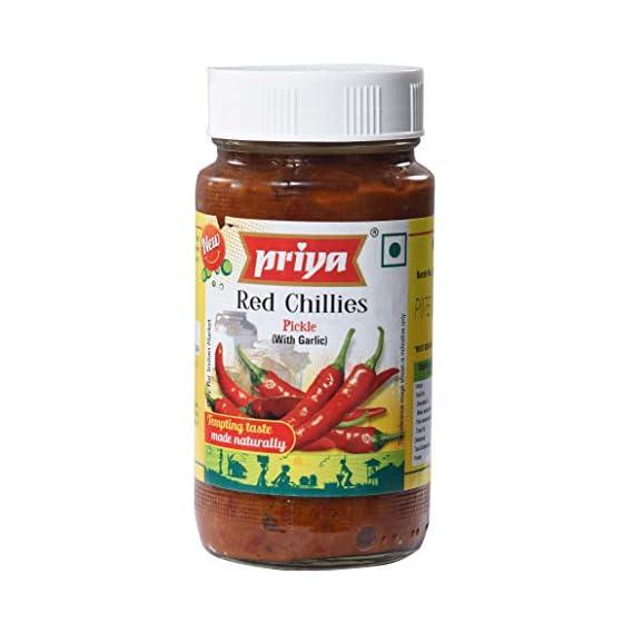 Priya Red Chilli with Garlic Pickle, 300g