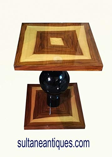Deco Art Desk Rosewood - Best Art Deco Inspired Rosewood and Olive Side Table