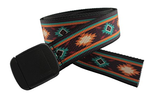 Hiking Belt - Southwestern Pattern Hiker Belt Made in USA by Thomas Bates (Pueblo)