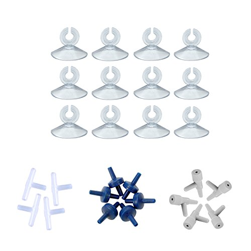 AQUANEAT Aquarium Air Pump Airline Tubing Suction Cups Control Valves 3-way Tubing Connectors Check valves