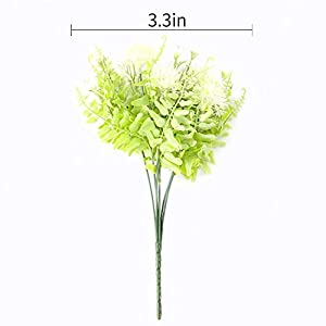 The Bloom Times Artificial Flowers Stems, 4 Bundles Fake Plastic Plants with Flower Floral Arrangement, Faux Bouquets Hanging Planter Filler for Wedding Home Office Farmhouse DIY Indoor Outdoor Decor 3