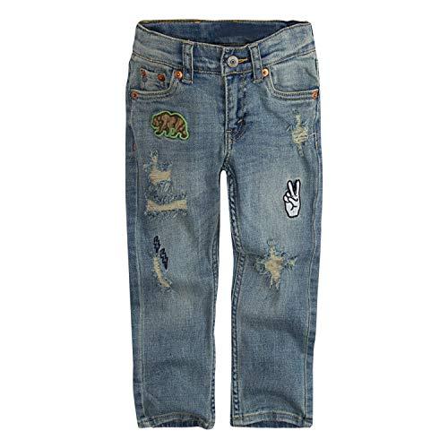 Levi's Boys' Toddler 511 Slim Fit Distressed Jeans, Mission Beach, 2T (Levi Shorts 2t Boys)