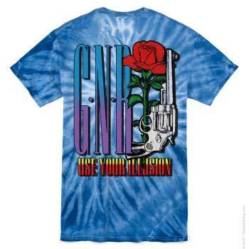 Guns N' Roses Illusions Tour Tie Dye T-Shirt Tie Dye Medium