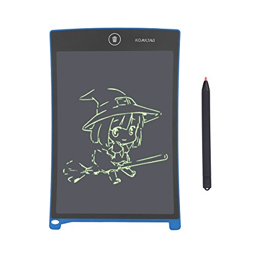 Komking 8.5inch LCD Graphic Writing Tablet,Durable Drawing and Writing Board Gift for Kids Office Writing Board (Spruce Square Clock)