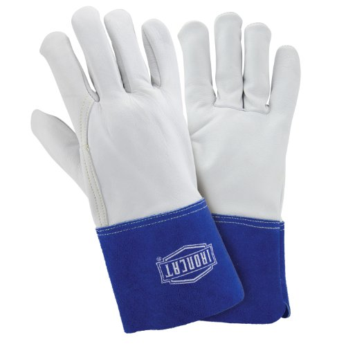 IRONCAT 6142 Premium Grain Goatskin Leather TIG Welding Gloves: Large, 12 Pairs Westchester Premium Grain Leather